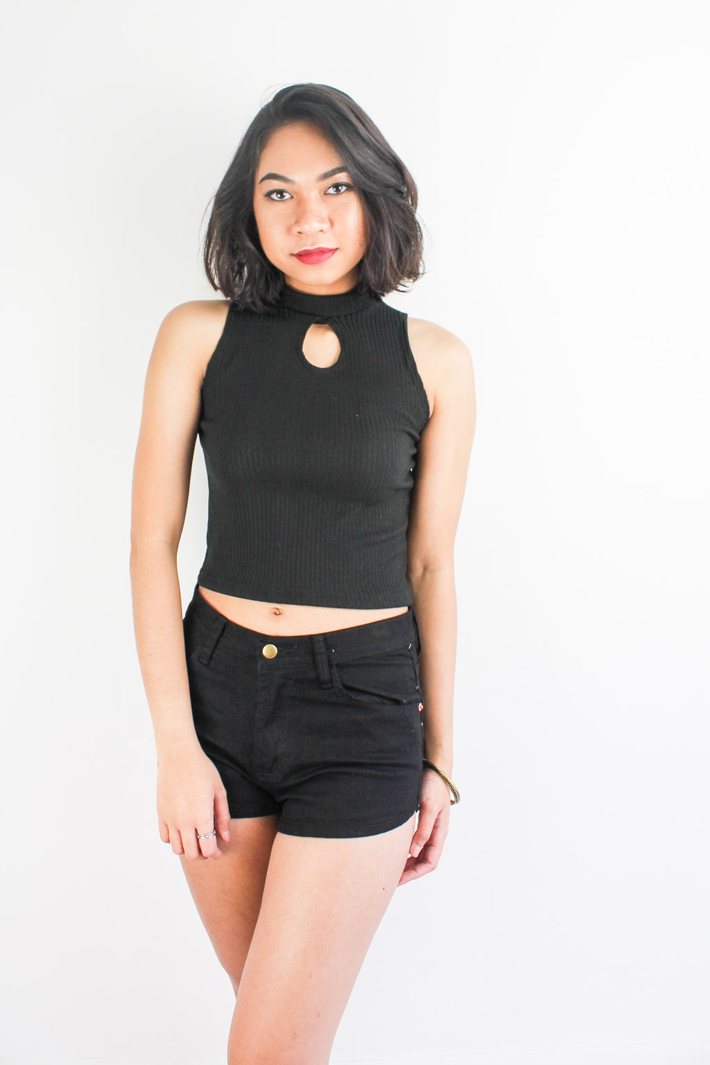 Peep Hole Top in Black - TOPS - Peep Boutique