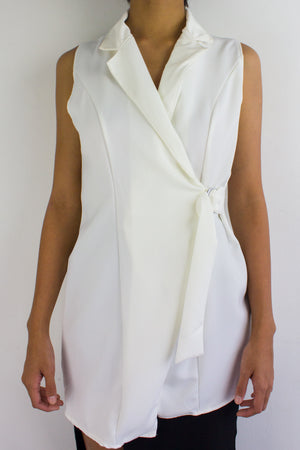 It's an Investment Vest in White - TOPS - Peep Boutique