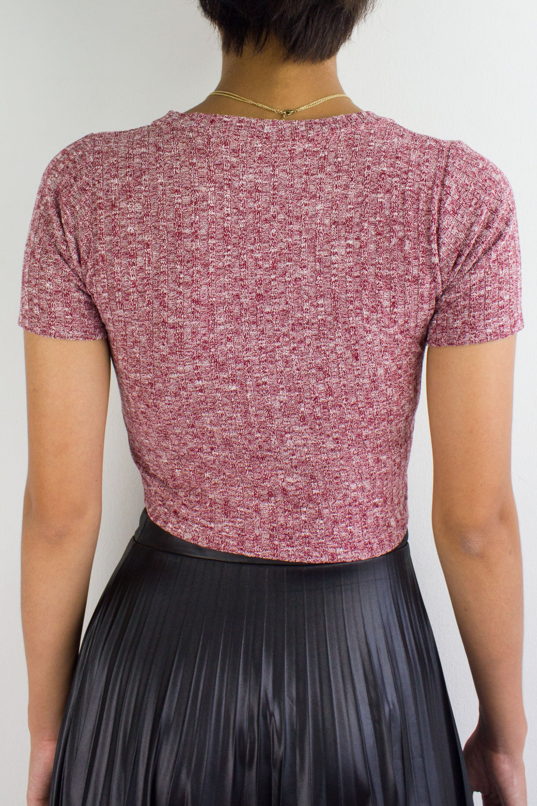 Sadie Speckled Crop Top in Red