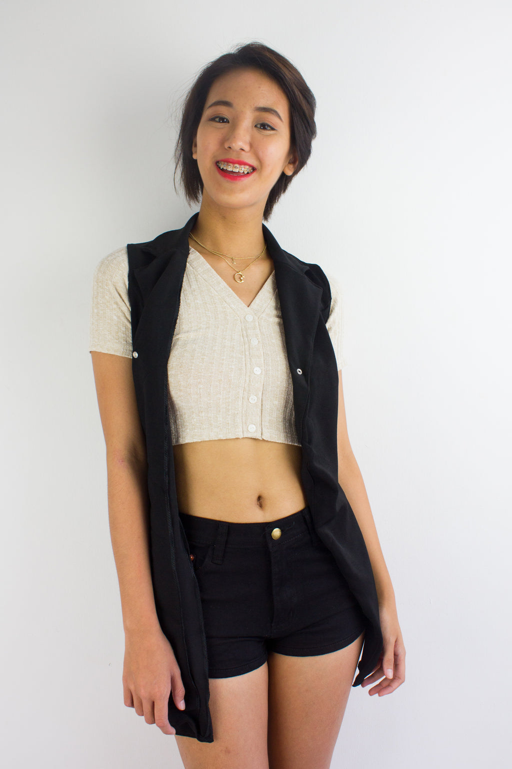 It's an Investment Vest in Black - TOPS - Peep Boutique