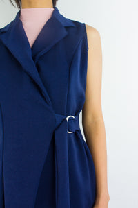 It's an Investment Vest in Navy Blue - TOPS - Peep Boutique