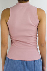 Get Ribbed Essential Top in Dusty Pink