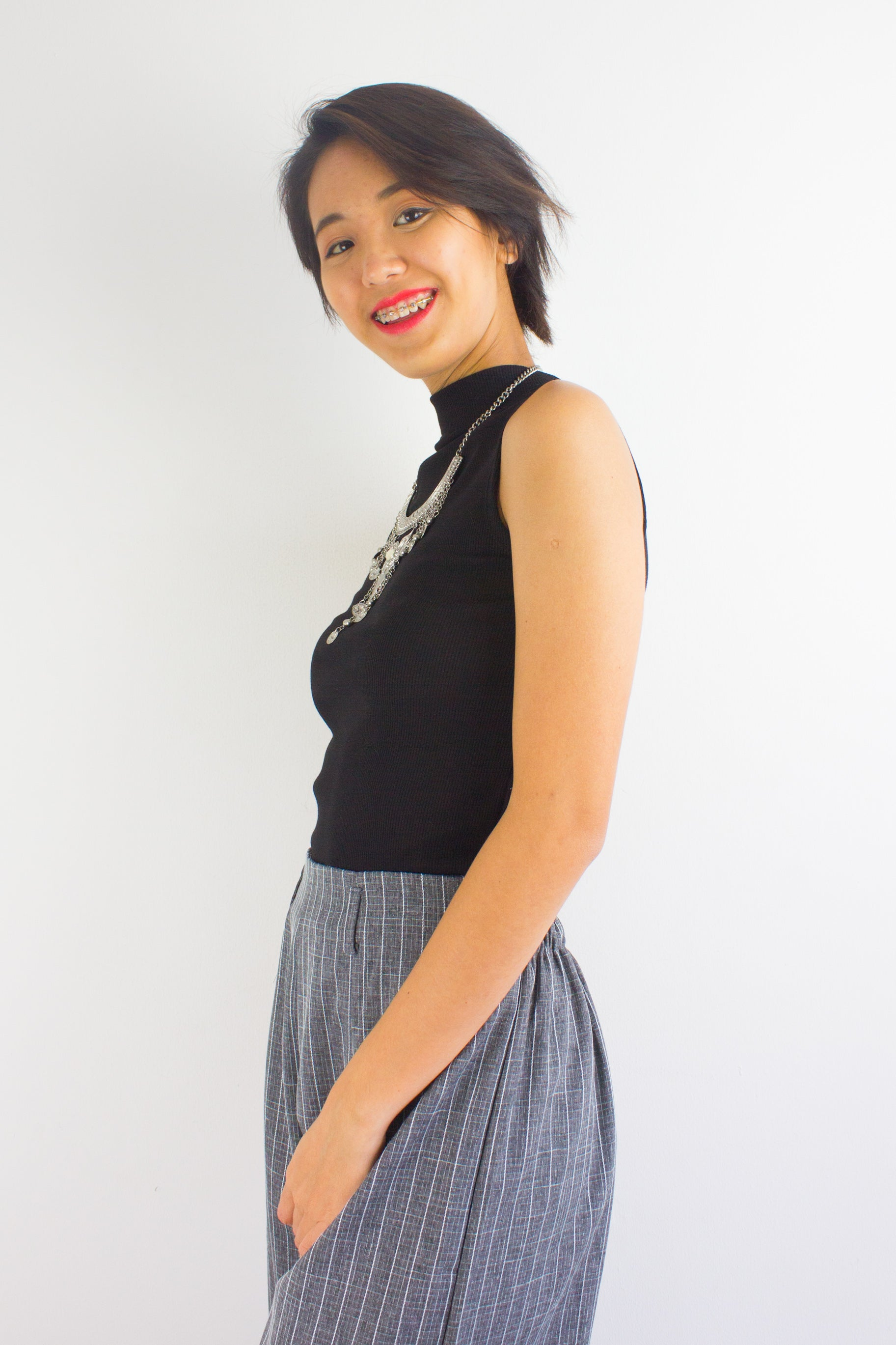 Get Ribbed Essential Top in Black