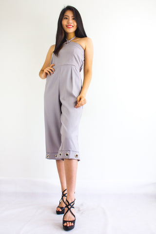 Great Grommet Midi Jumpsuit in Grey