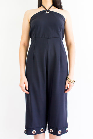 Great Grommet Midi Jumpsuit in Black