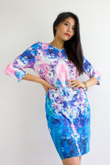 Paint With The Wind Watercolour Midi Dress