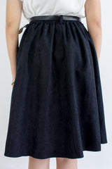 Suede My Way Midi Skirt in Black