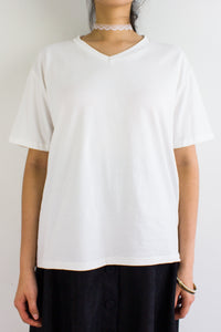 Homebody Oversized Tee in White - TOPS - Peep Boutique
