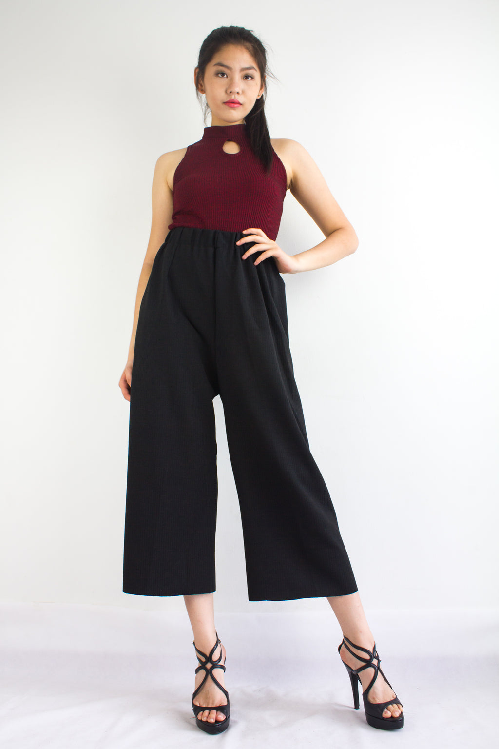 Let's Hang Culottes in Black - BOTTOMS - Peep Boutique