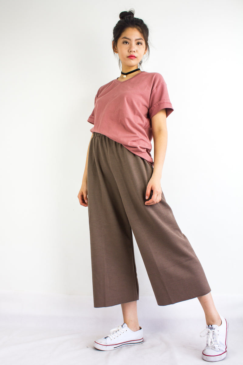 Homebody Oversized Tee in Dusty Rose - TOPS - Peep Boutique