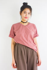 Homebody Oversized Tee in Dusty Rose