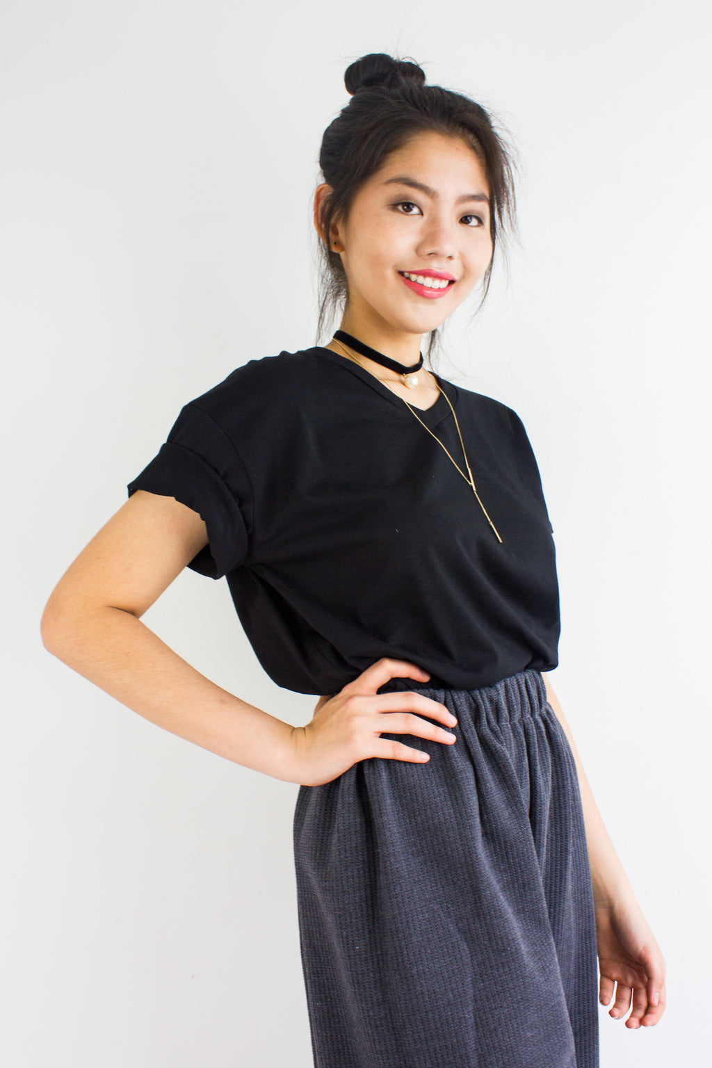 Homebody Oversized Tee in Black - TOPS - Peep Boutique