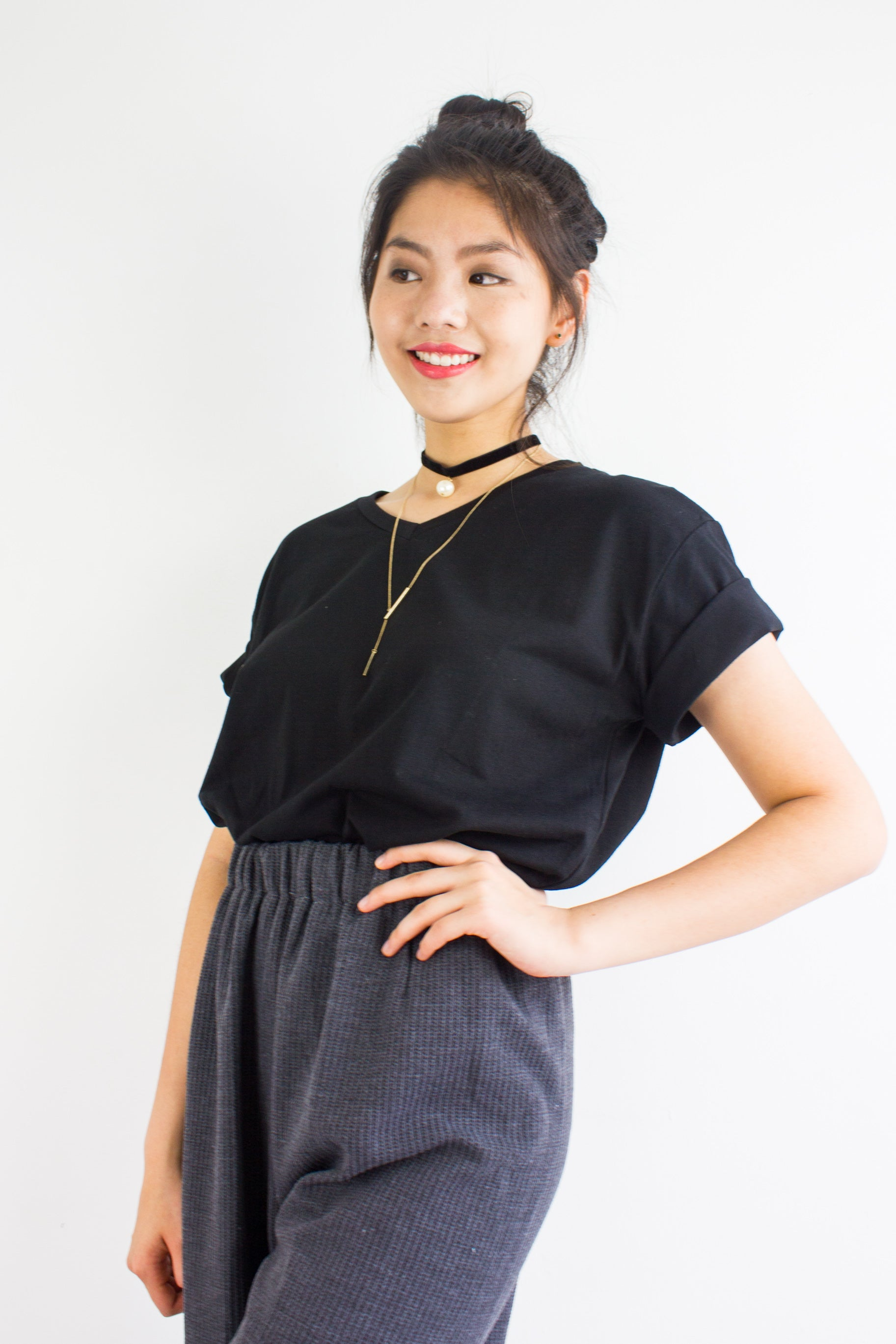 Homebody Oversized Tee in Black