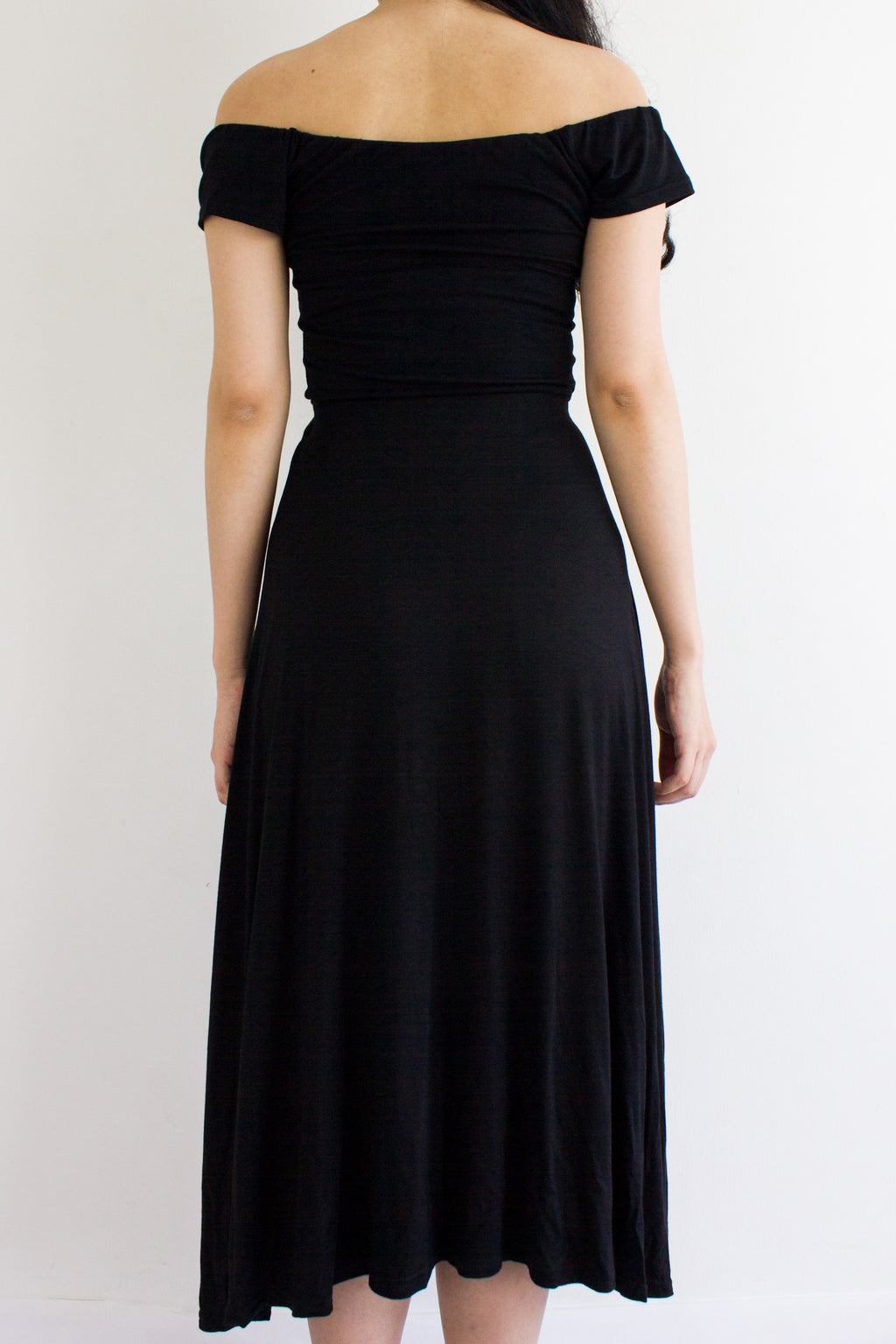 Double Wear Midi Dress in Black - DRESSES - Peep Boutique