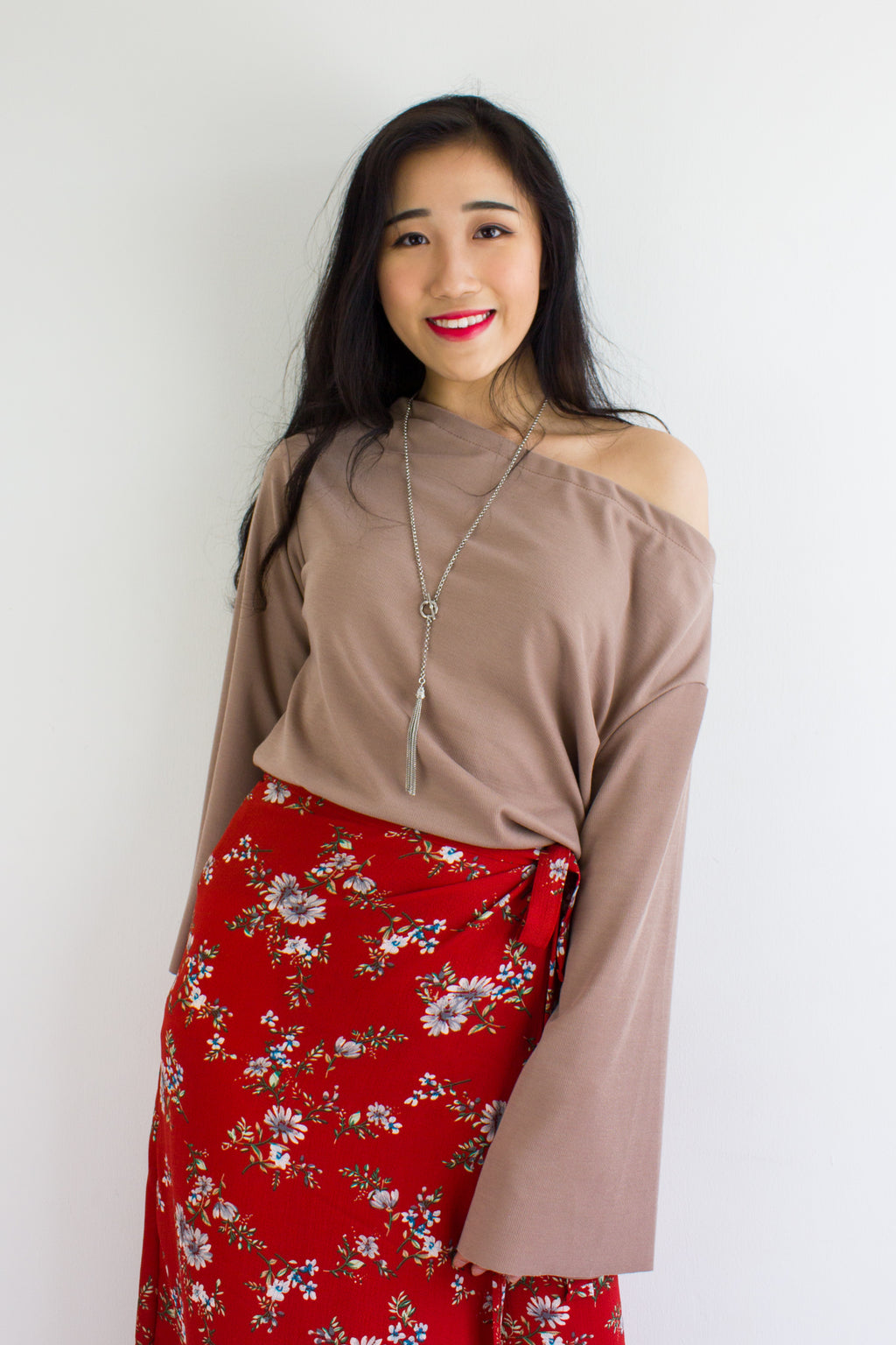 So Cozy Bell Sleeves Top in Chocolate - TOPS - Peep Boutique