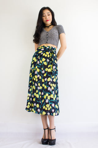 Wild Meadows Wrap Skirt in Dark Tulips