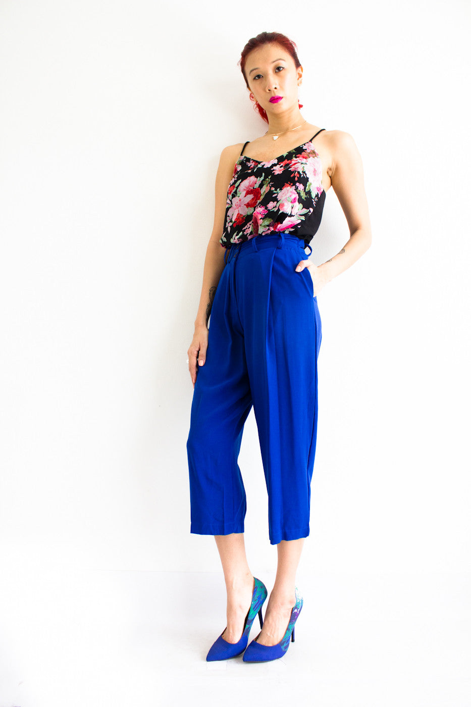Tania Tapered Trousers - Blue - Peep Boutique - www.peepb.com - 1