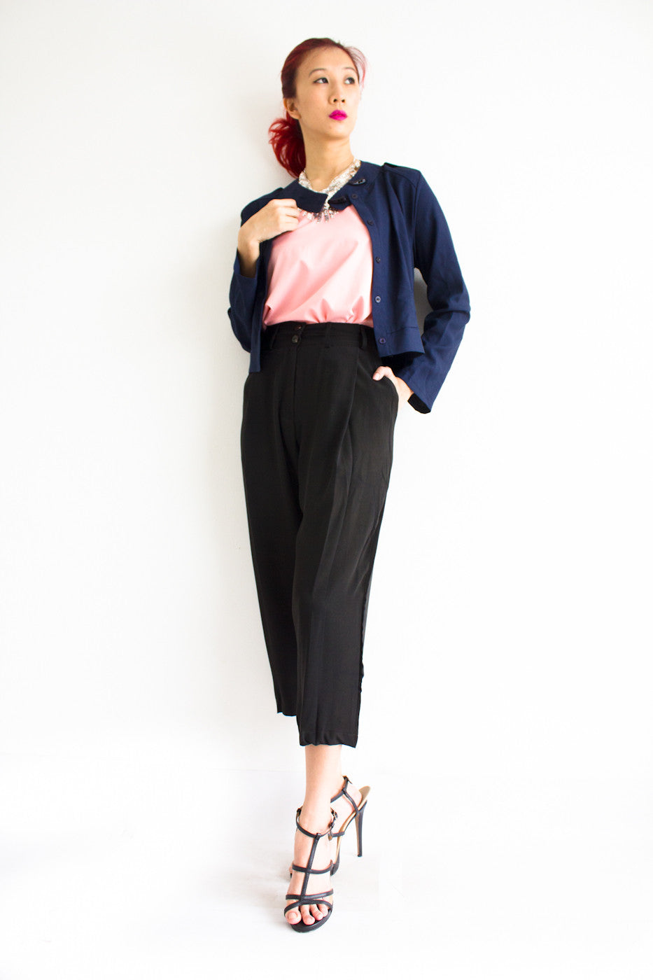 Tania Tapered Trousers - Black - Peep Boutique - www.peepb.com - 15