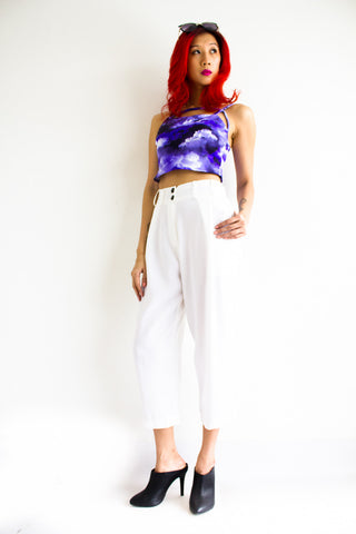 Tania Tapered Trousers - White - Peep Boutique - www.peepb.com - 4