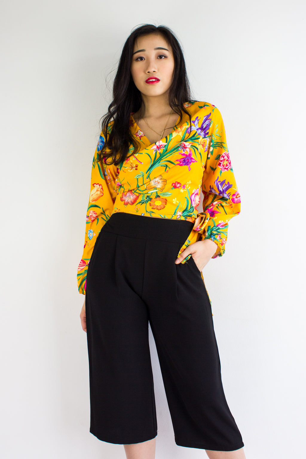 Take Charge Culottes in Black - BOTTOMS - Peep Boutique