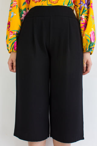 Take Charge Culottes in Black