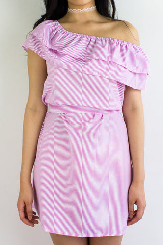 Get In Line Ruffle Dress in Pink