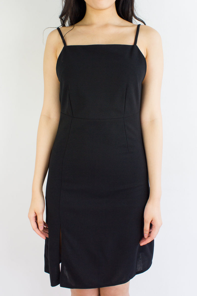 Little Black Backless Dress - DRESSES - Peep Boutique