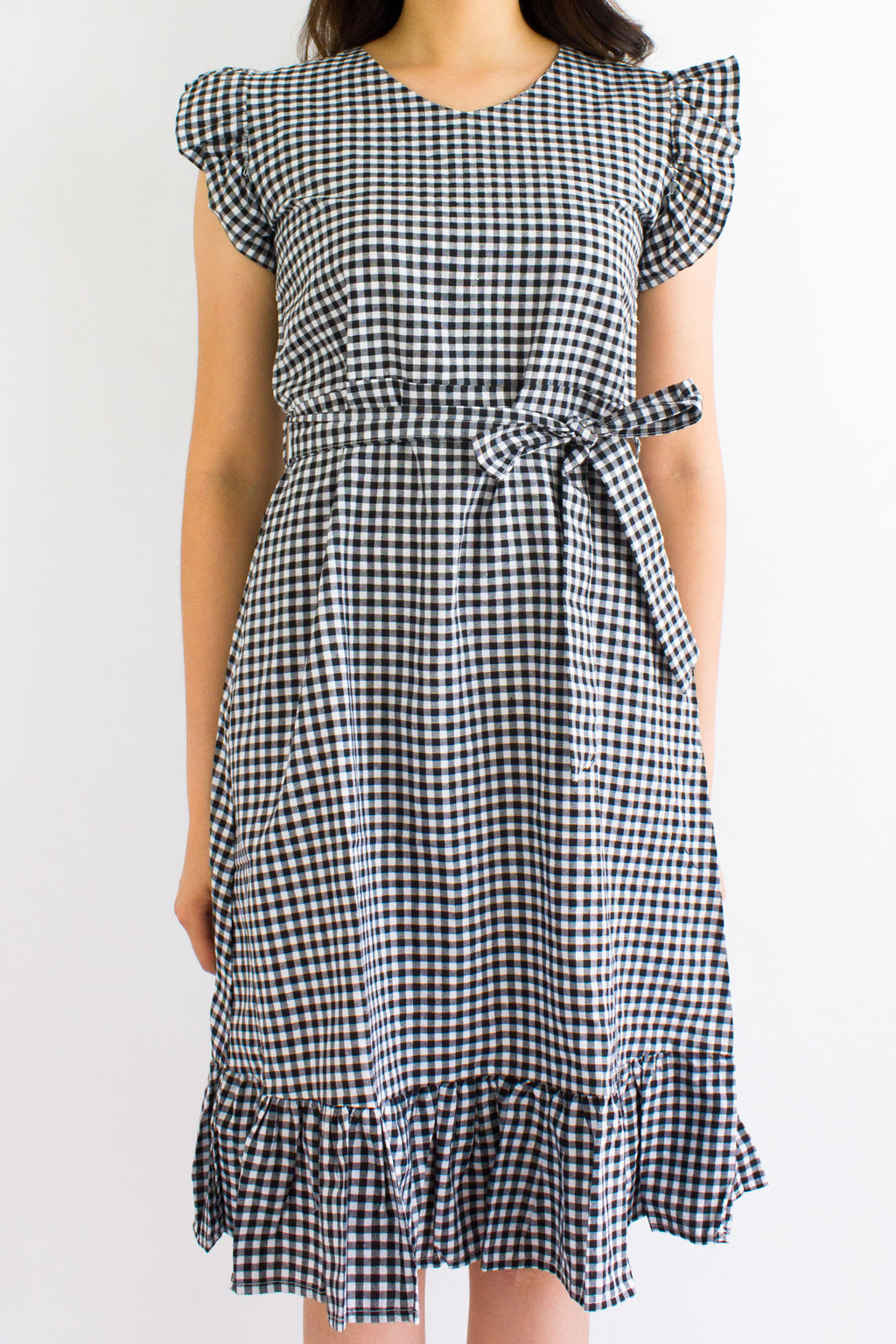 All Checkered Out Midi Dress - DRESSES - Peep Boutique