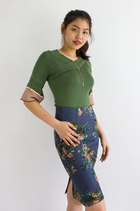 Make Knit Count Top in Moss Green - TOPS - Peep Boutique