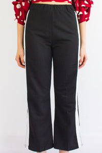 Cut Into The Contrast Lane Trousers - BOTTOMS - Peep Boutique