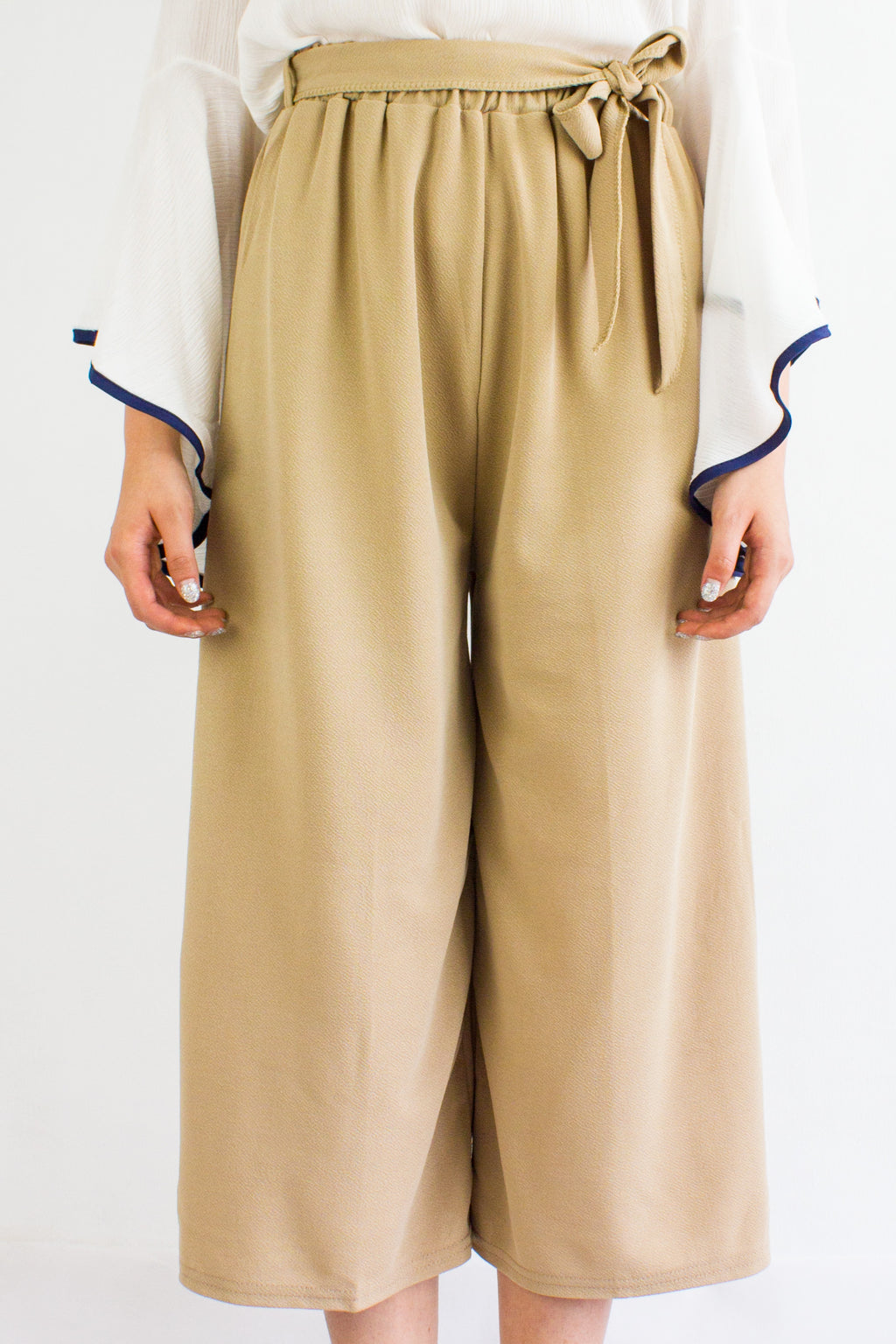 Sashay into Work and Play Culottes in Nude