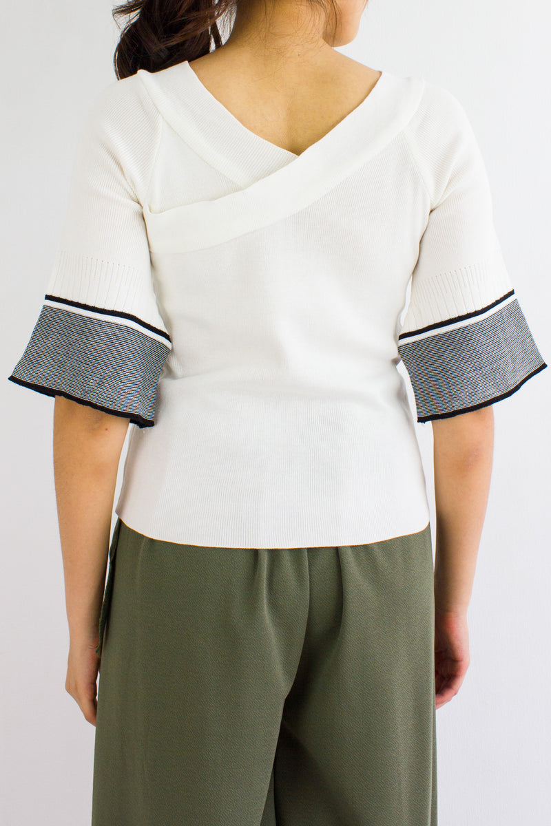 Make Knit Count Top in White - TOPS - Peep Boutique
