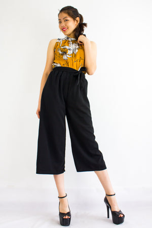 Sashay into Work and Play Culottes in Black - BOTTOMS - Peep Boutique
