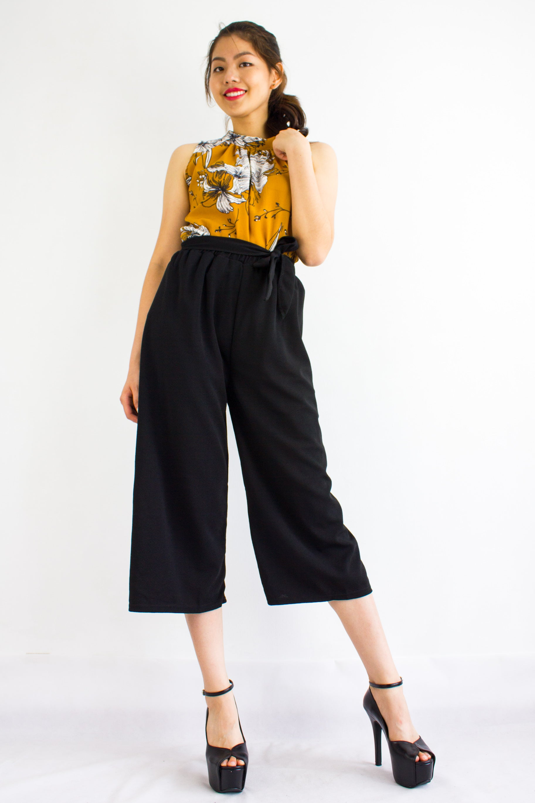 b14e4b260369 Sashay into Work and Play Culottes in Black - BOTTOMS - Peep Boutique