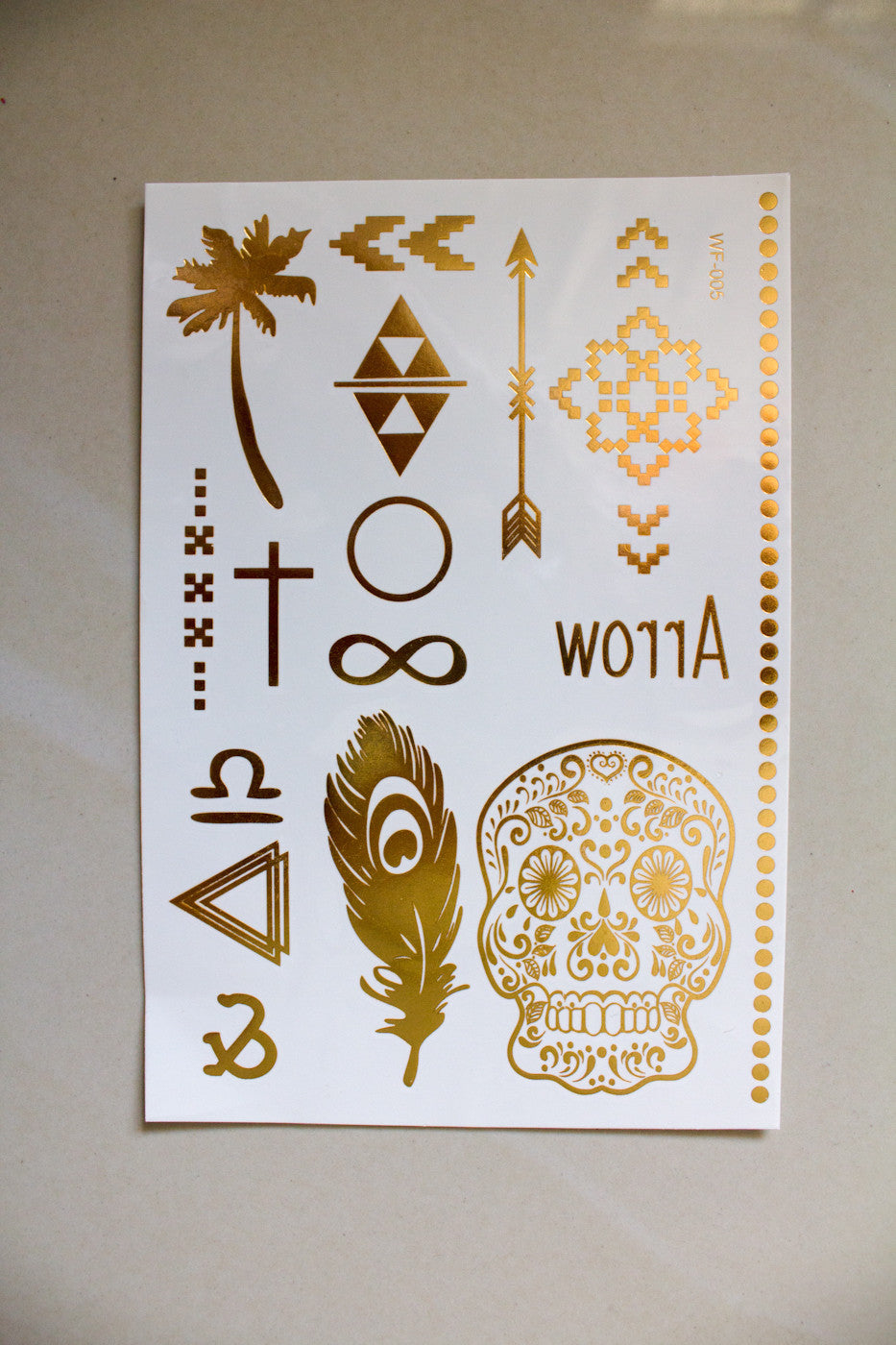Metallic Temporary Tattoos - kalei - Peep Boutique - www.peepb.com - 9