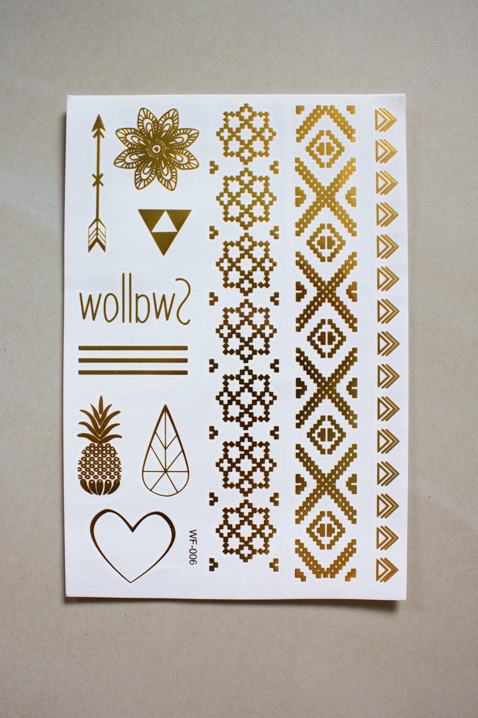 Metallic Temporary Tattoos - isabella - Peep Boutique - www.peepb.com - 6