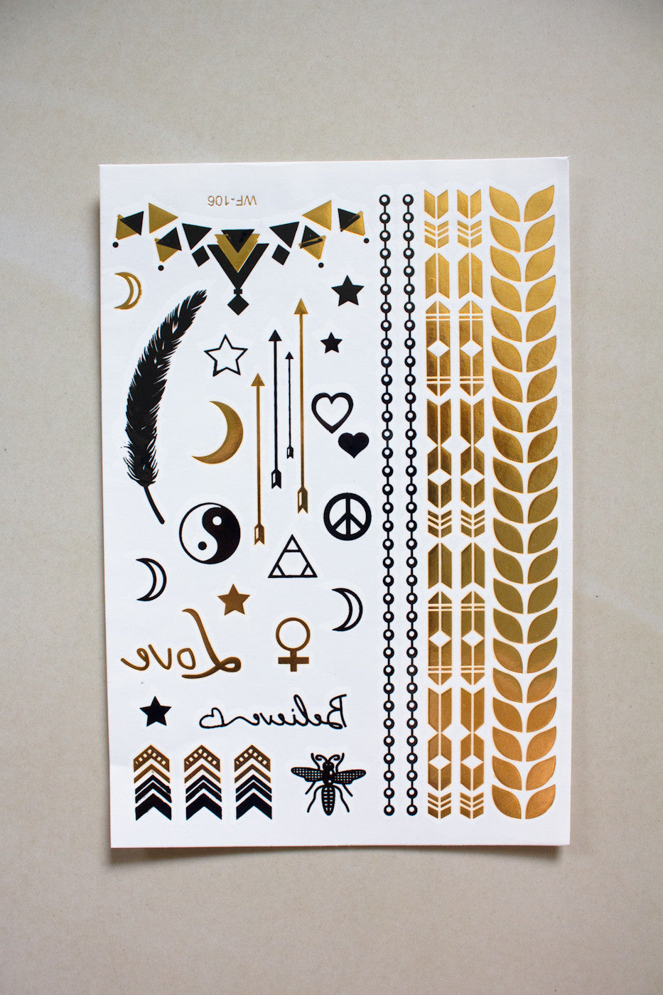 Metallic Temporary Tattoos - gypsy - Peep Boutique - www.peepb.com - 12