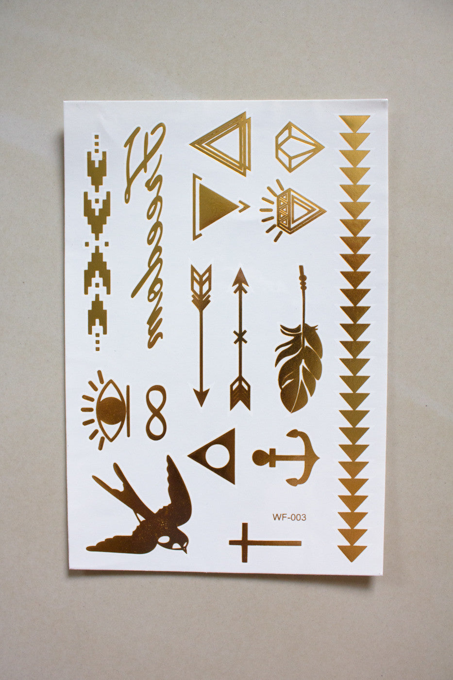 Metallic Temporary Tattoos - liberty - Peep Boutique - www.peepb.com - 15