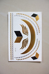 Metallic Temporary Tattoos - sofh - Peep Boutique - www.peepb.com - 3