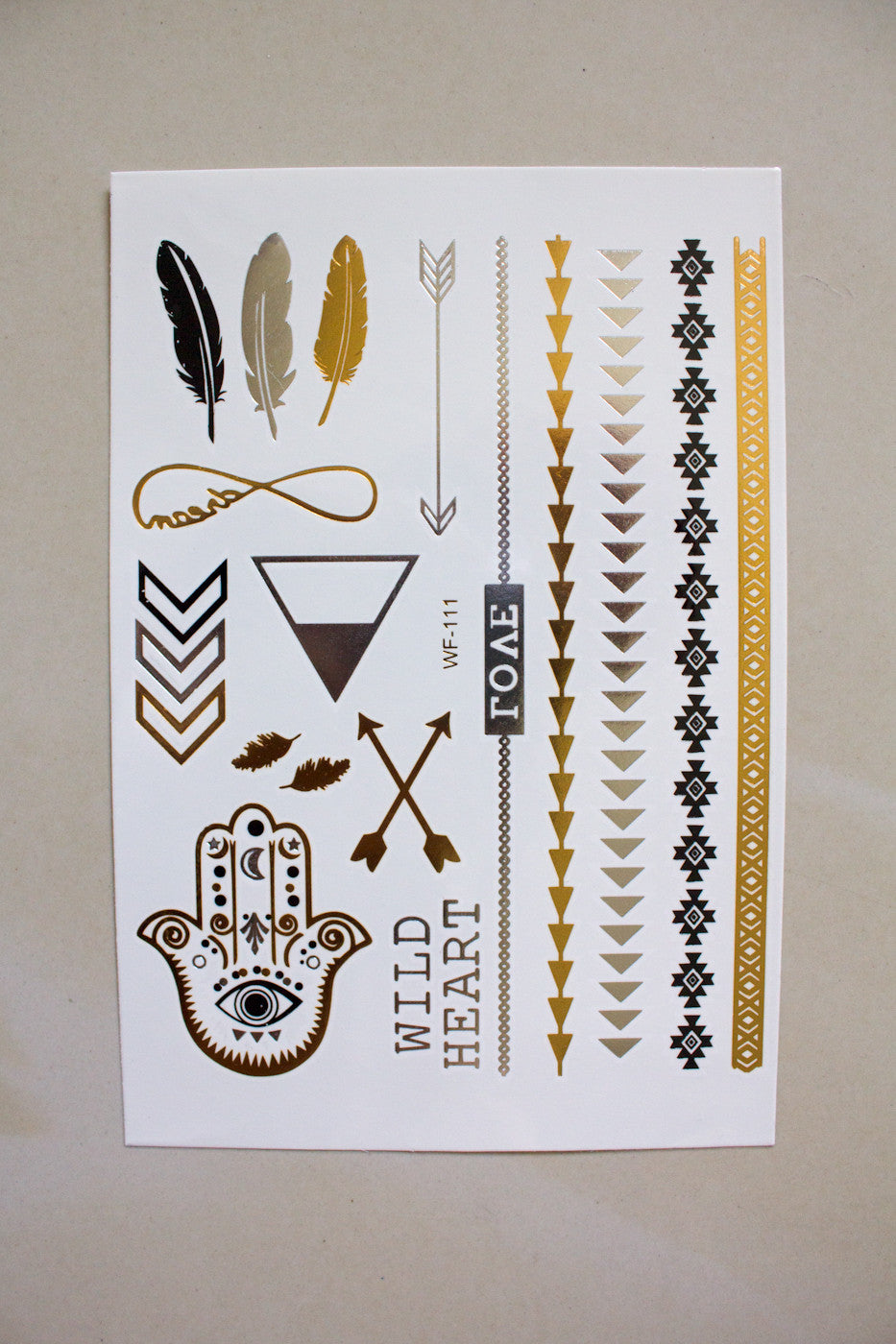 Metallic Temporary Tattoos - shania - Peep Boutique - www.peepb.com - 18