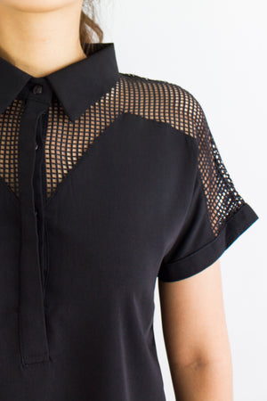 Netting Like it Top in Black - TOPS - Peep Boutique