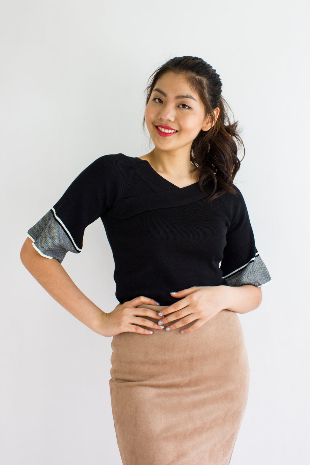 Make Knit Count Top in Black - TOPS - Peep Boutique