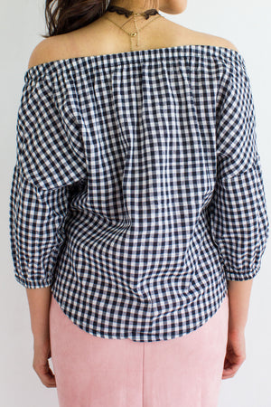 Off The Grid Gingham Top - TOPS - Peep Boutique