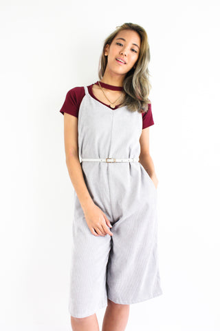 Cool It In Corduroy Jumpsuit in Ash Grey