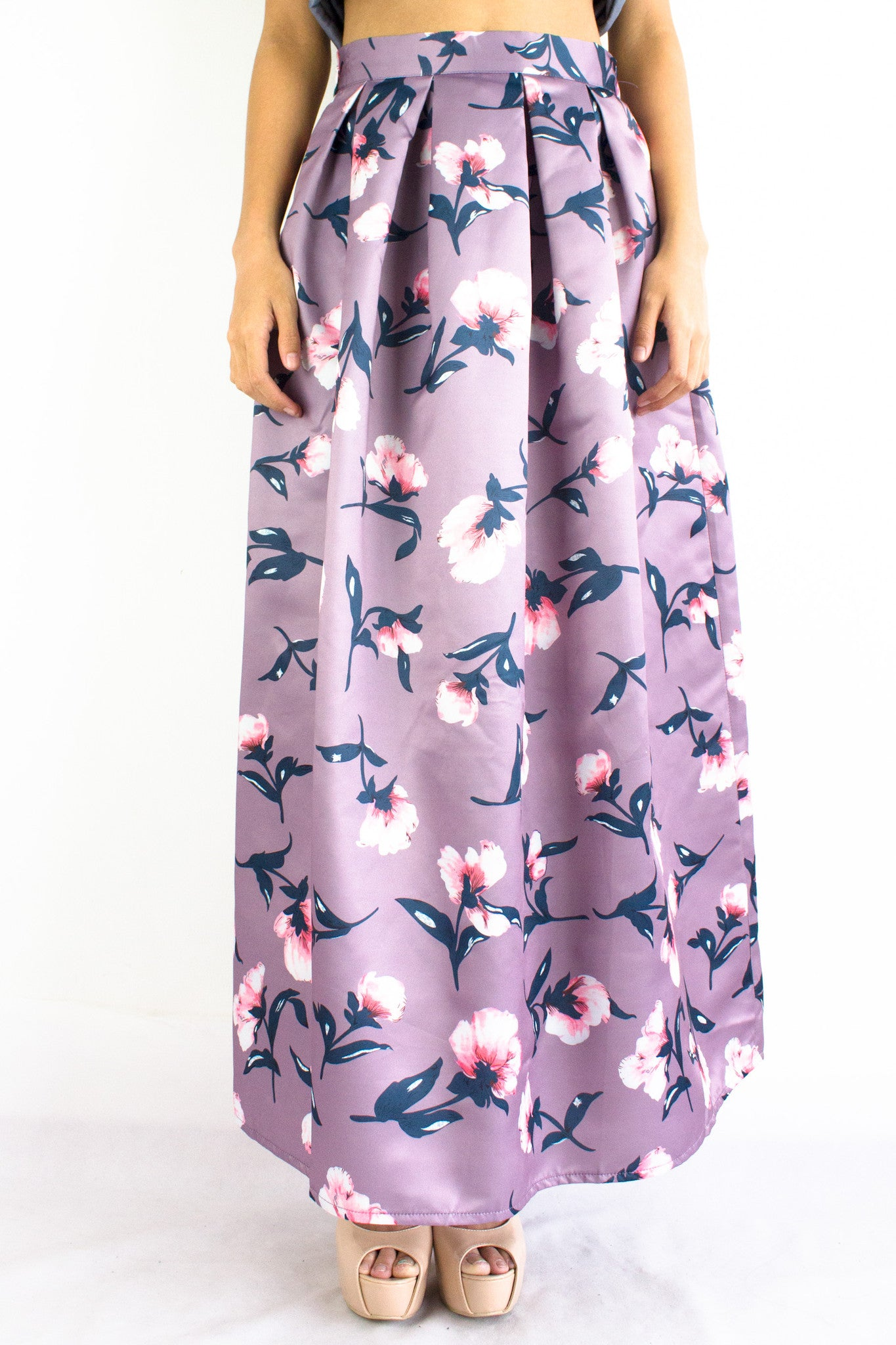 Rose Red Maxi Skirt in Lavender