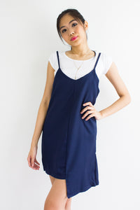 Annabelle Two Piece Slip Dress in Navy Blue - DRESSES - Peep Boutique