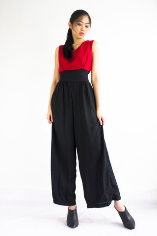 Dana Duotone Jumpsuit in Red