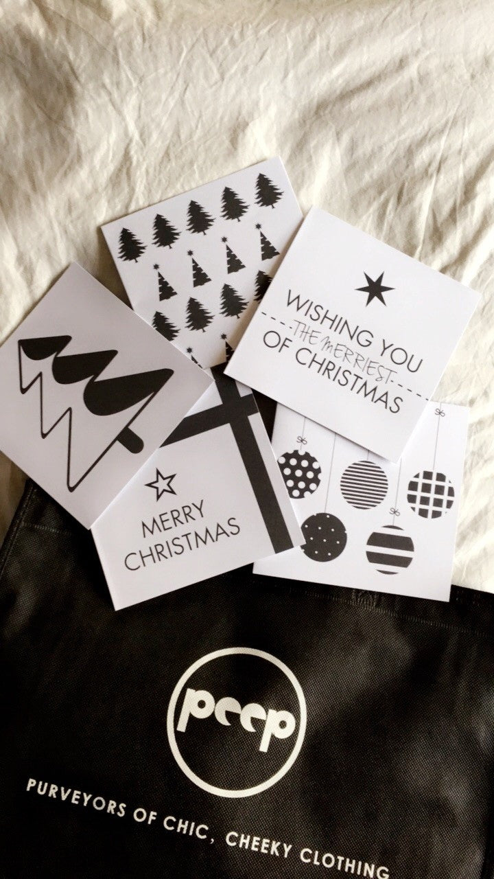 Christmas Cards - Monochrome - ACCESSORIES - Peep Boutique
