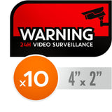 24h Video Surveillance Decals