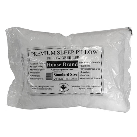 "Bed Pillow 20"" x 26"" Standard Size Fabric Cover"